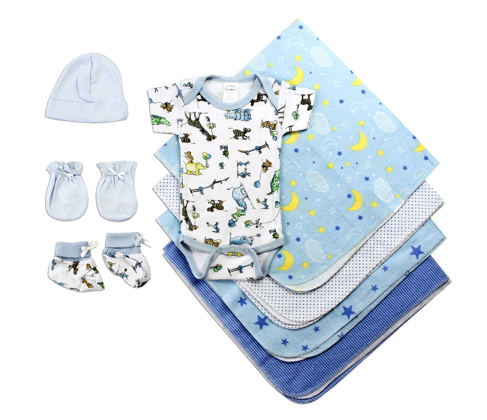 Newborn Baby Boys 8 Pc Layette Baby Shower Gift - Charlie Dreams