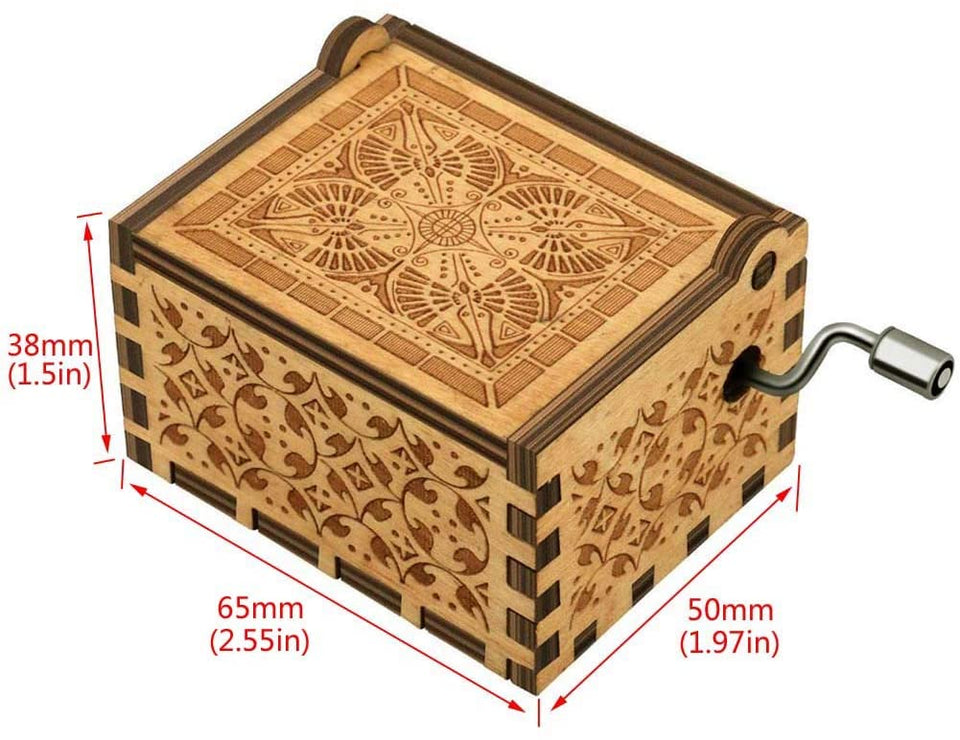 Wooden Hand-cranked Music Box Queen Bohemian Rhapsody Music Box Game Of Throne Present You are My Sunshine