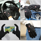 Touch Screen Windproof Outdoor Sport Gloves Men Women Winter Fleece Thermal Warm Running Gloves Anti-slip Cycling Gloves