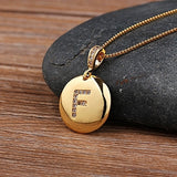Letter Necklace Gold 26 Letters Charm Necklaces Pendants Jewelry Personalized Necklace