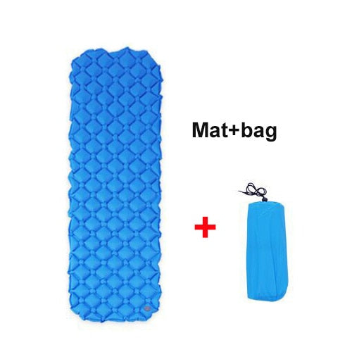 Air Mattress Sleeping Mat Outdoor Camping Pad Waterproof Inflatable Mattress Cushion for Backpacking Hiking Travel Beach
