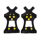 10 Stud S M L XL Universal Ice Non Slip Snow Shoe Spikes Grips Cleats Crampons Winter Climbing Safety Tool Anti   Cover
