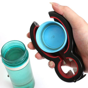 6 in 1 Multi Function Can Beer Bottle Opener All in One Jar Gripper Can Wine Beer Lid Twist Off Jar Opener Claw