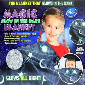 Magic Glow In The Dark Blanket Luminous Blanket Children Blanket Fluorescent Blanket