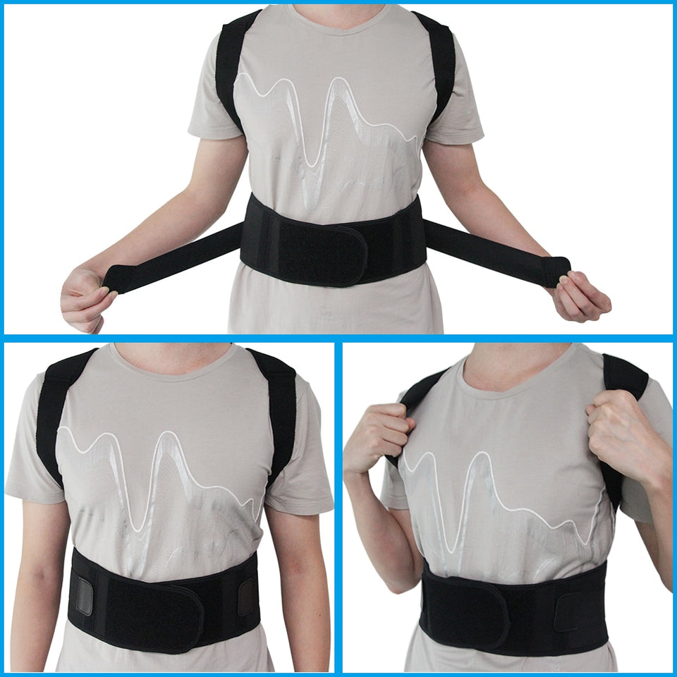Magnetic Therapy Posture Corrector Brace Shoulder Back Support Belt for Men Women Braces