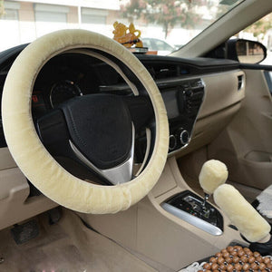 Universal Steering-Wheel Plush Car Fur Covers
