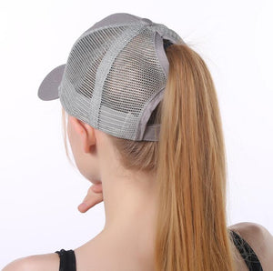 Women Mesh Ponytail Baseball Caps - Charlie Dreams