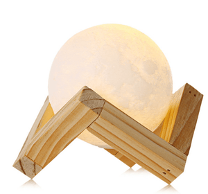 Rechargeable 3D Print Moon Home Lamp 2 Color Change - Charlie Dreams