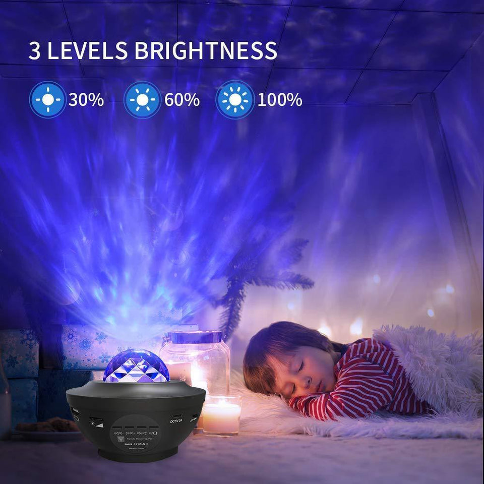 Galaxy LED Starry Night Lamp for Bedroom & Garden with Bluetooth Music - Charlie Dreams