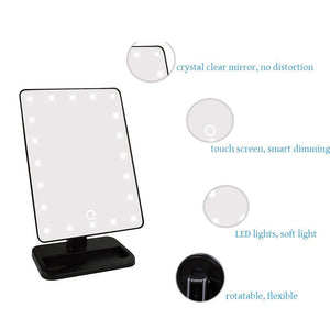 Makeup Vanity Mirror | Swivel LED Light + 10x - Charlie Dreams