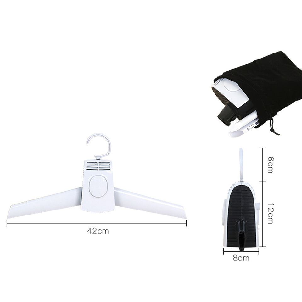 220V Foldable Clothes Hangers Electric Laundry Clothes Dryer Rack Smart Shoes Coat Hanger For Travel Trousers Perchas