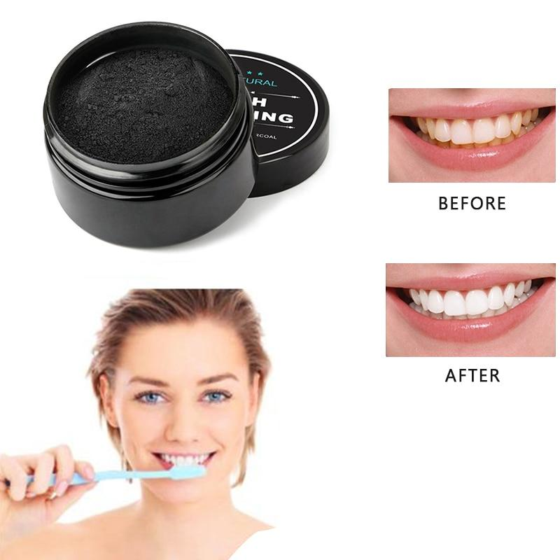 Activated Whitening Charcoal Teeth Powder Toothpaste with Free Bamboo Toothbrush - Charlie Dreams