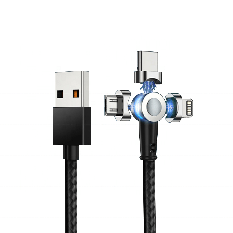 Rotatable 180 Degree Magnetic Fast Charging Cable for Android & iPhone - Charlie Dreams