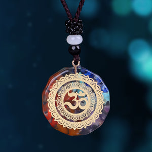 Pendant Symbol Necklace Chakra Healing Energy Necklace Meditation Jewelry