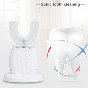 Ultrasonic Teeth Whitening Light Automatic Toothbrush - Charlie Dreams