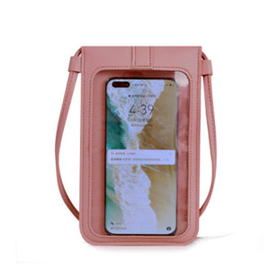 Women's Crossbody Bag Pu Leather Touch Screen Mobile Wallet Female Retro Student Buckle Shoulder Bag Purses And Handbags