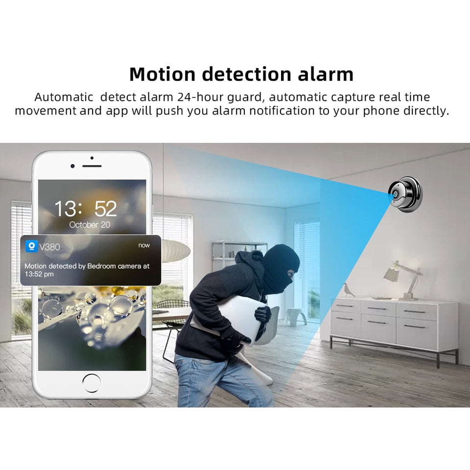 1080P Wireless Mini CCTV Surveillance Home Security Camera