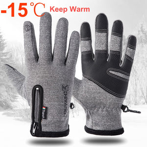 Cold-proof Ski Gloves Waterproof Winter Gloves Cycling Fluff Warm Gloves For Touchscreen Cold Weather Windproof Anti Slip