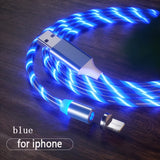Magnetic Flow Luminous Lighting Charging Cable for Android & iPhone