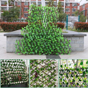 Garden Patio Yard Expandable Artificial Ivy Leaf Fence Decorations Screen
