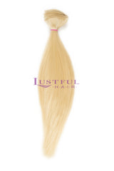 Bleached / Platinum Blonde Natural Straight Wefted Hair (Per Bundle)
