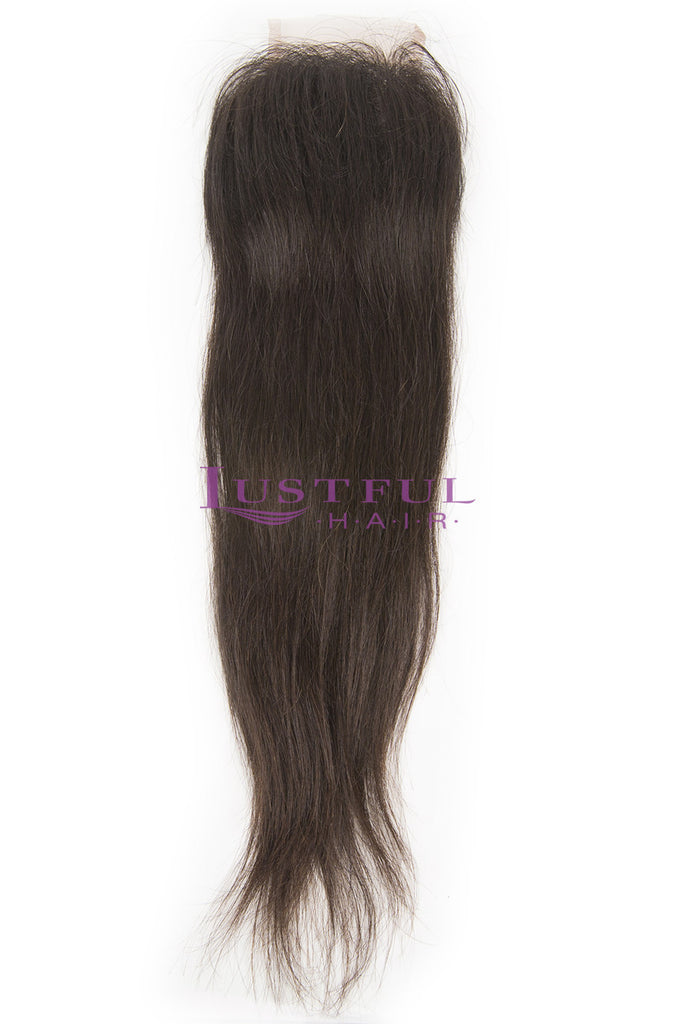 Natural Straight Swiss Lace Closure