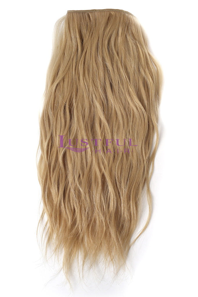 Honey Blonde Natural Straight Wefted Hair (Per Bundle)