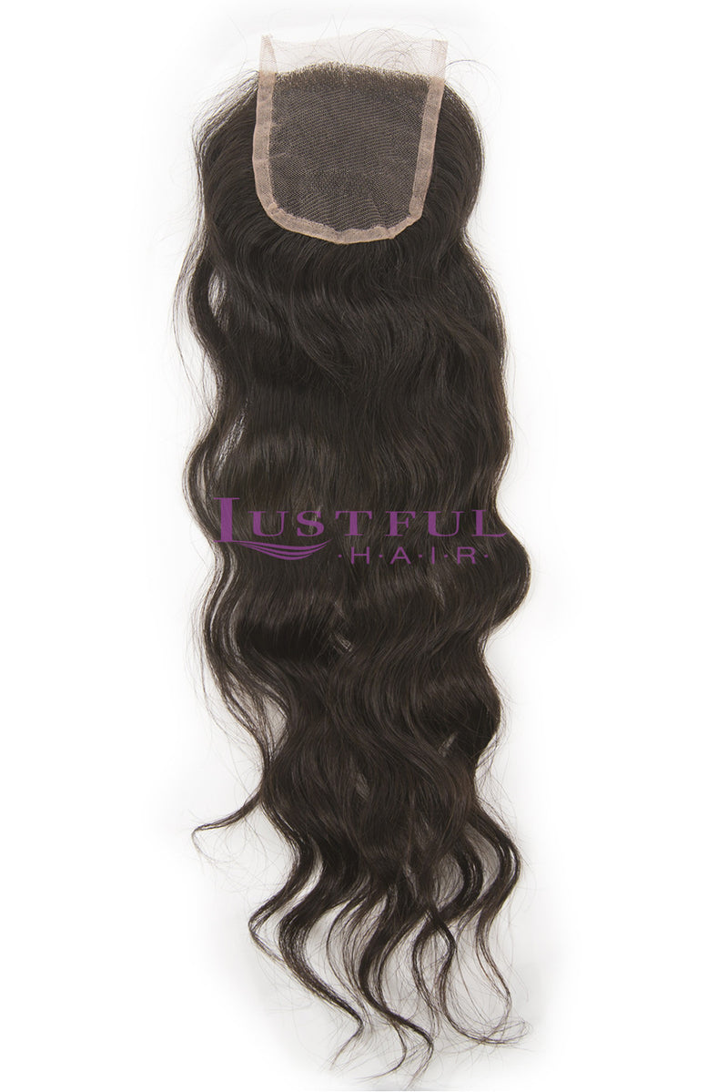 Lace Closure - Natural Wavy
