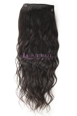 Natural Wavy Wefted Hair (Per Bundle)