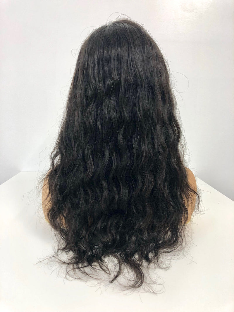 "Full Lace Wig - 18"" Natural Wavy"