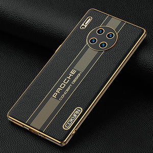 Luxury Leather Plating for Huawei Case