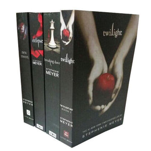 The Twilight Saga English Version 1-4 Full set of Twilight/New Moon/Lunar Eclipse/Dawn + Exquisite Bookmark