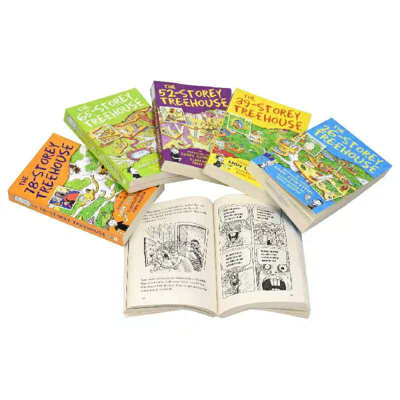 Treehouse Books Collection Andy Griffiths 6 & 9 Books Set (The 13-Storey Treehouse, The 26-Storey Treehouse, The 39-Storey Treehouse, The 52-Storey Treehouse, The 65-Storey Treehouse,The 78-Storey Treehouse.)
