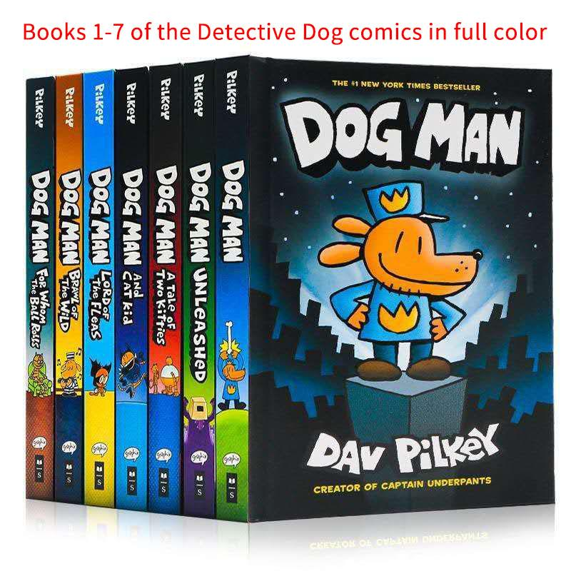 Dog Man The Epic Collection 1-7 by Dav Pilkey.