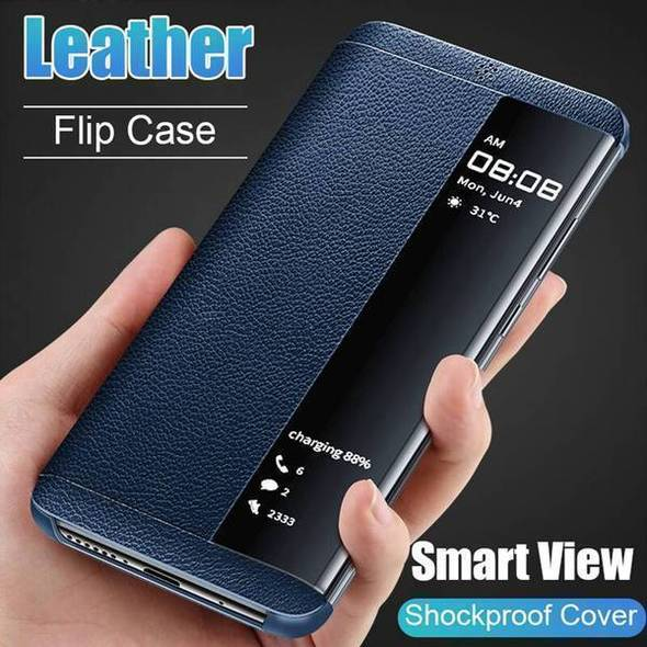 Luxury Shockproof Smart Window Flip Leather Phone Case For Samsung Series