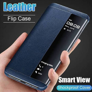 Luxury Shockproof Smart Window Flip Leather Phone Case For Redmi Series