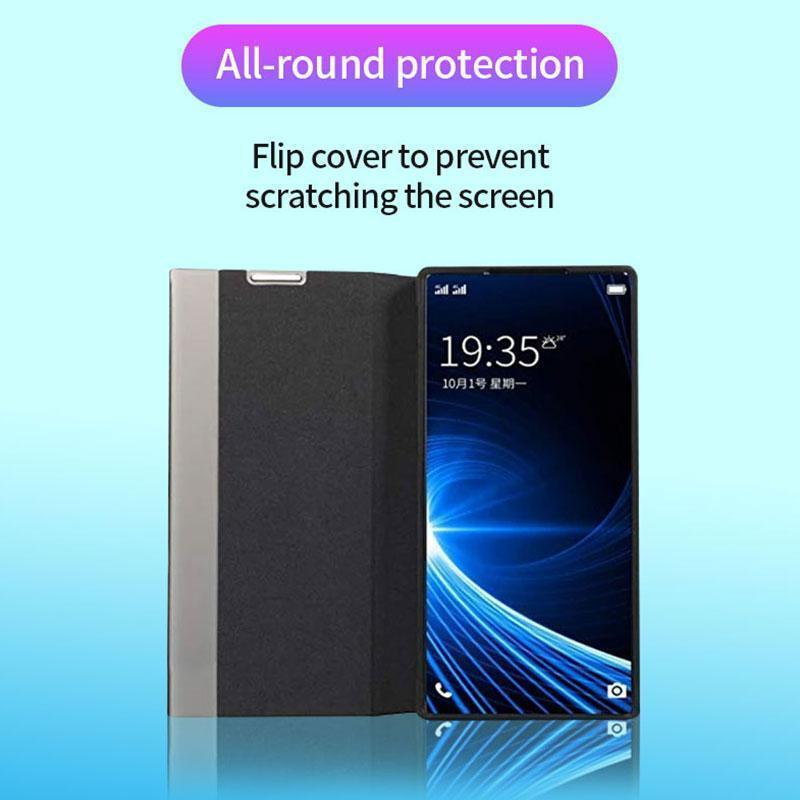 Luxury Vertical Smart Windows Leather Case For SAMSUNG