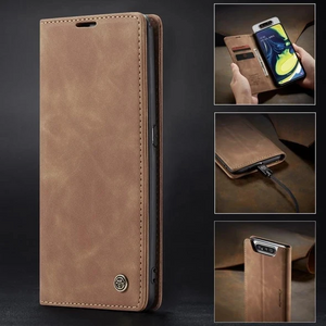 Auroras For Samsung Cover Case Flip Magnetic Matte Leather Luxury Wallet Card Stand Phone Case