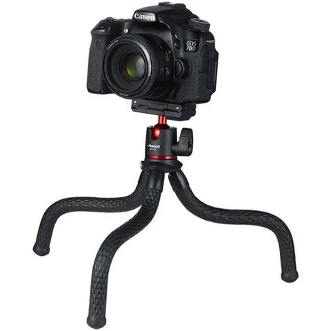ULANZI MT-11 TRAVEL FLEXIBLE OCTOPUS MOBILE PHONE DSLR TRIPOD 2 IN 1 FOLDABLE CLIP MAGIC ARM QUICK RELEASE PLATE