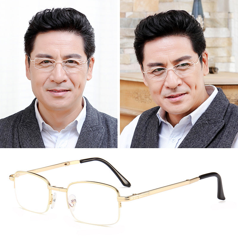 【Buy 1 Get 1 Free】Carried easily and folded presbiopi zoom glasses,Suitable for men and women