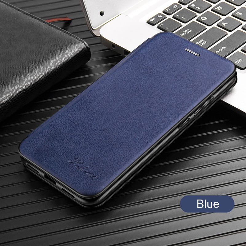 Leather Flip Wallet Case for Samsung