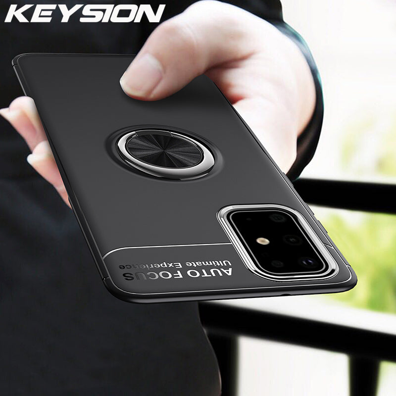 KEYSION Ring Shockproof Phone Case for Samsung