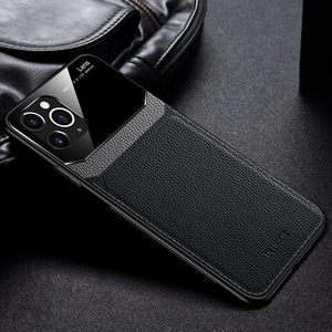 Ultra Leather Mirror Tempered Glass Samsung Case