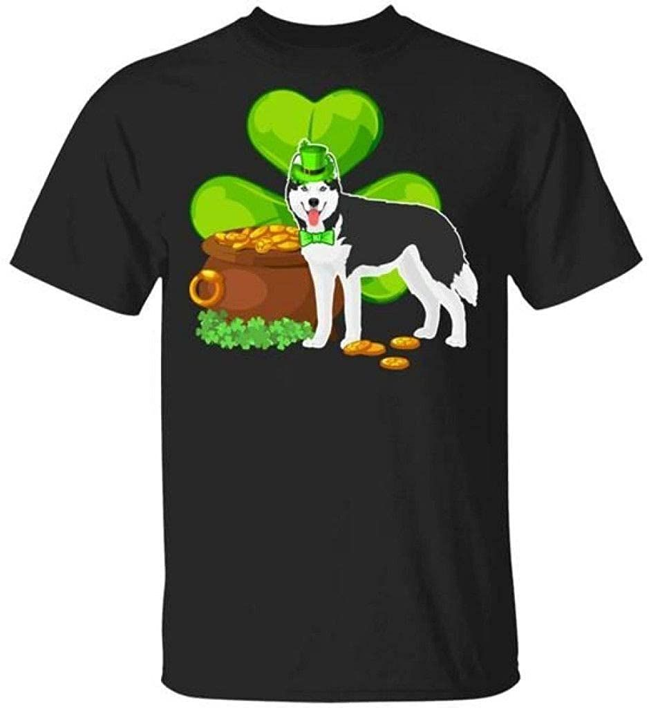 Vintage T-Shirts Men Women's, Husky St Patrick's Day Irish Dog Lover Funny s T Shirt, Tank Top, Hoodie, Long Sleeve, Sweatshirt, Crew Neck Short Sleeve Gifts