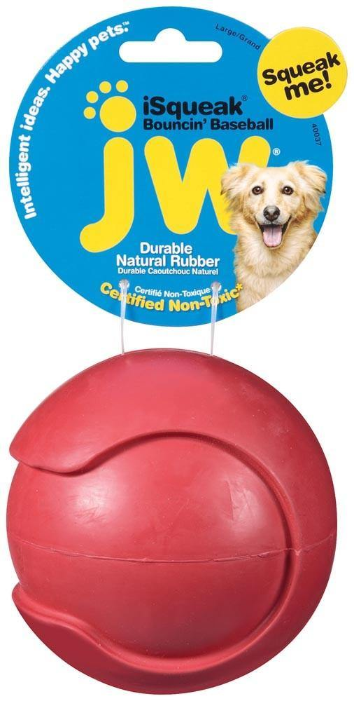 JW Pet iSqueak Bouncin' Baseball Large - Furry Friend Frocks