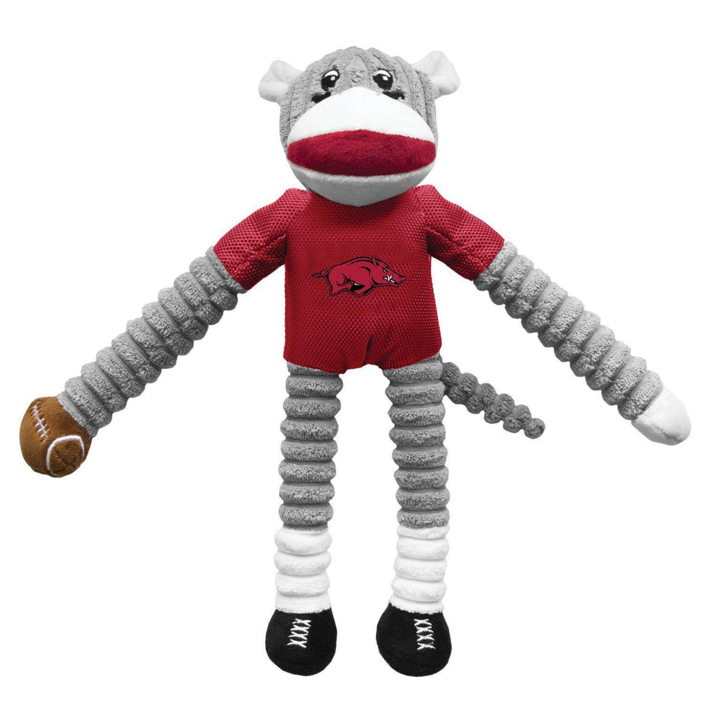 Arkansas Razorbacks Sock Monkey Pet Toy - Furry Friend Frocks