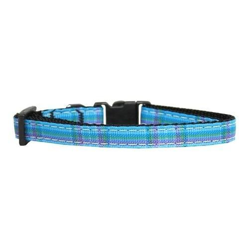 Blue Plaid Cat Safety Collar - Furry Friend Frocks