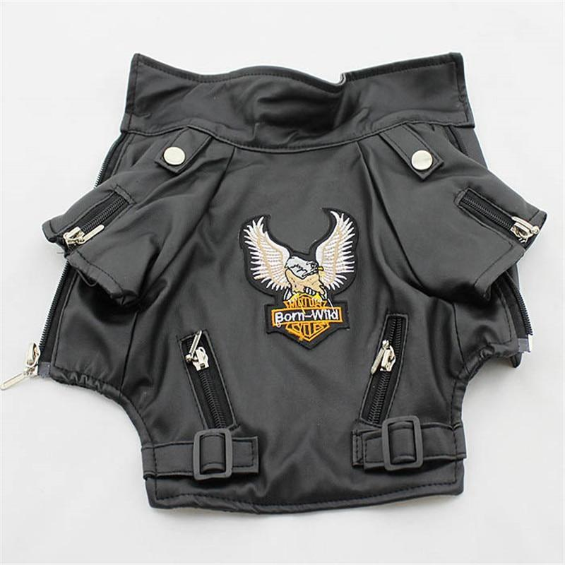 Eagle Pattern Waterproof Leather Dog Jacket