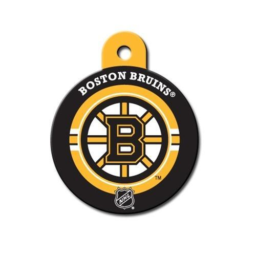 Boston Bruins Circle Id Tag - Furry Friend Frocks