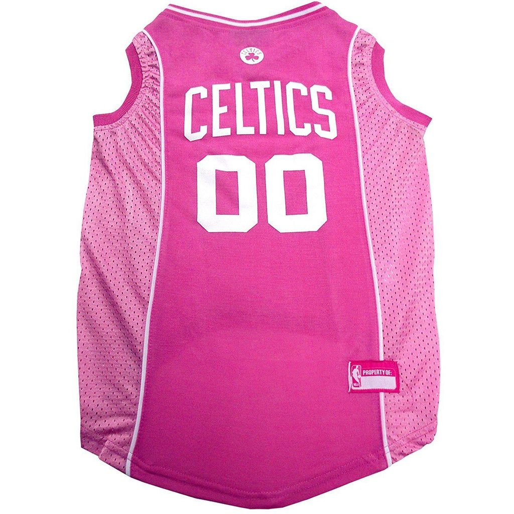 Boston Celtics Pink Pet Jersey - Furry Friend Frocks